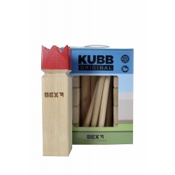 KUBB Viking Original RED KING - Schwedenschach  Kubbspiel