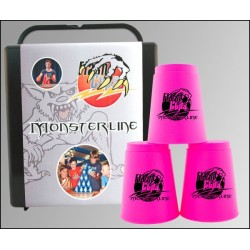 Sport Stacking Set  / MonsterLine Neon Pink