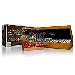 Premium 300 Poker Chips - Set in Holzkoffer
