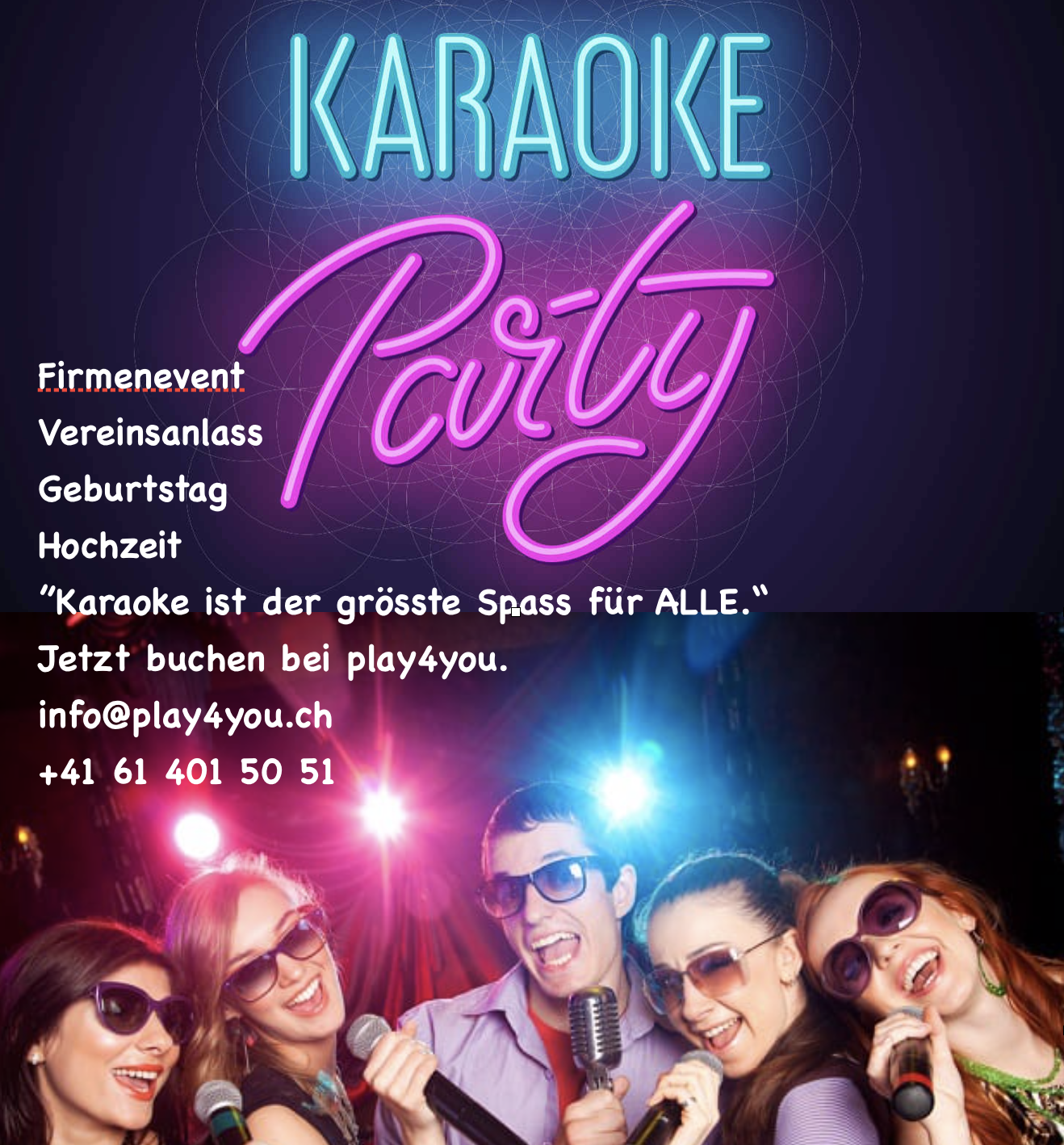 Karaoke Flyer play4you